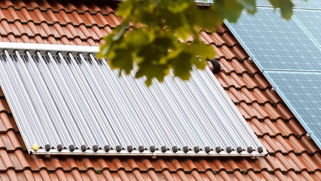 Pelletheizung in Kombination mit einer Solarthermieanlage