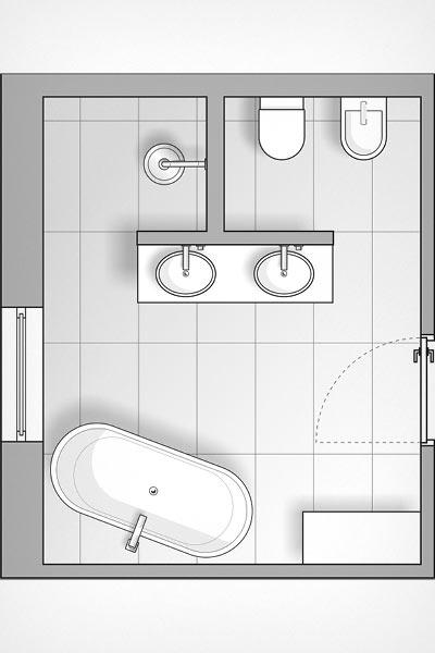 Tapeten im Bad, stilvoll inszeniert - MEISTER DER ELEMENTE