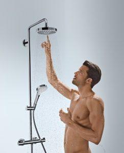 Duschen von Markenherstellern bieten den vollen Wassergenuss und sind gleichzeitig sparsam im Verbrauch. Foto: Hansgrohe